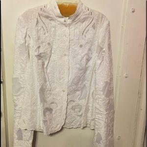 Elegant White Lace Jacket